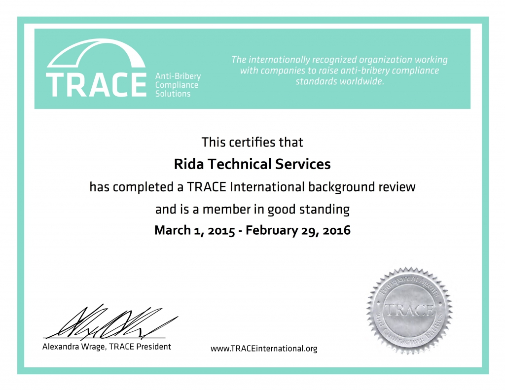 Certificate_Rida Technical Services_2015