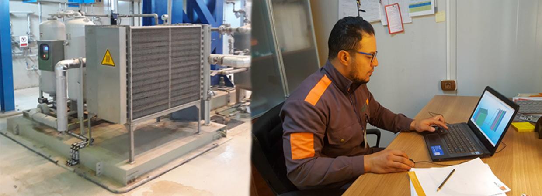 Repair of Heat exchanger tubing in APU Skid on GT-1